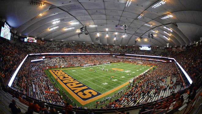The Syracuse football team is set to play its first home game Saturday, Sept. 26. It is not clear if fans will be allowed to the games.