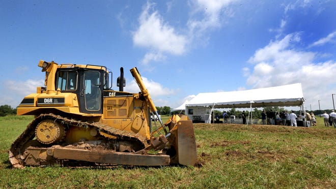 Construction equipment can be found across Rutherford County because of recent economic growth.