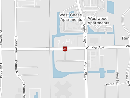 A Fort Myers police cruiser was involved in a crash on Winkler Avenue near Metro Parkway