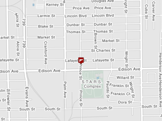 Location of a shooting on the 2900 block of Lafayette