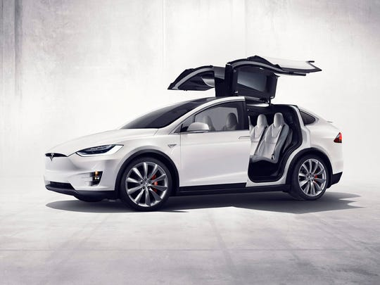 Tesla models X – The X SUV is on sale now, priced from $75,000 to $132,000.