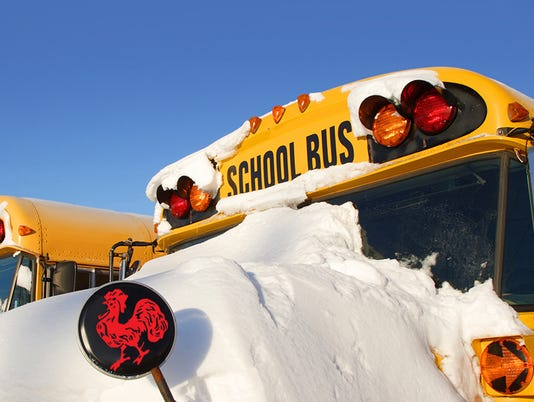 Winter School Buses 1