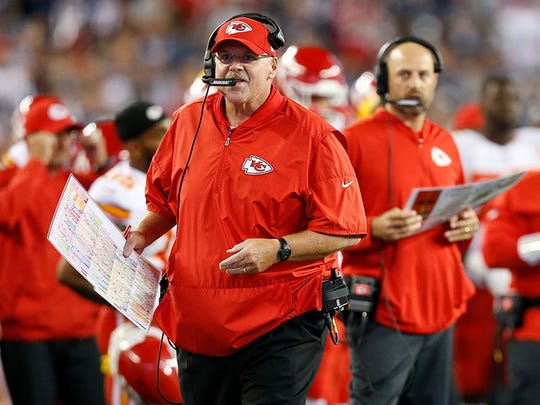 Andy Reid is entering his seventh season coaching the Kansas City Chiefs. Could he end up in the Super Bowl going against his protege, Eagles coach Doug Pederson?