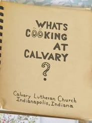 The Calvary Lutheran Church cookbook is well-worn and