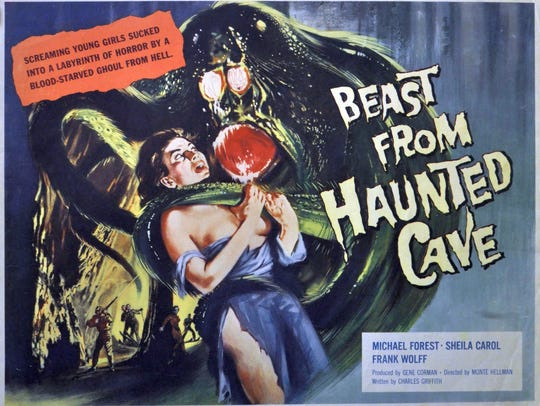 Poster for Beast from Haunted Cave where Robinson plays