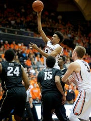 Oregon State freshman guard Stephen Thompson Jr. was known for his late-game heroics this season.
