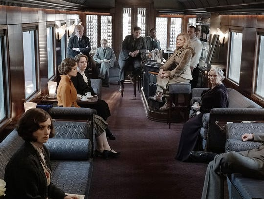 The all-star cast of 'Murder on the Orient Express.'