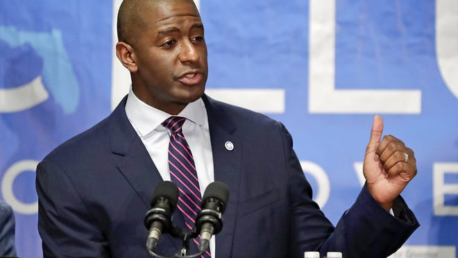"Andrew Gillum, pictured in a file photo from his campaign for Florida governor in 2018, said he will be entering rehab after an incident last week in which he was found ""inebriated"" in a hotel room along with a man who was being treated for a suspected meth overdose."