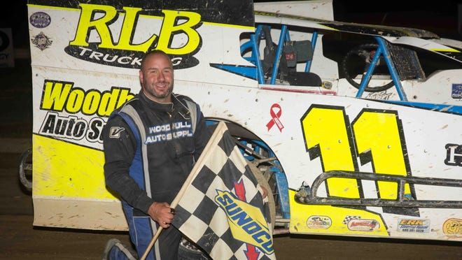 Donnie Lawson won the 25-lap Insinger Performance Modified feature event at Woodhull Raceway July 4.