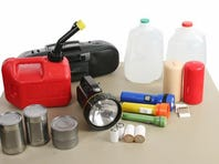 Be prepared with the right supplies during Hurricane season, including flashlights, drinking water, canned goods and plenty of batteries.