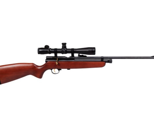 A stock image of a rifle.