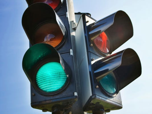 A stock image of a traffic light.