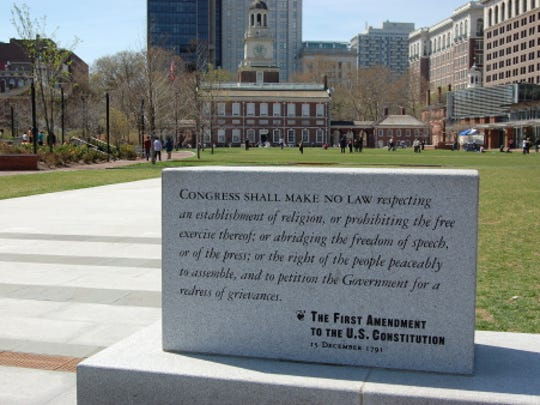 First Amendment and Independence Hall