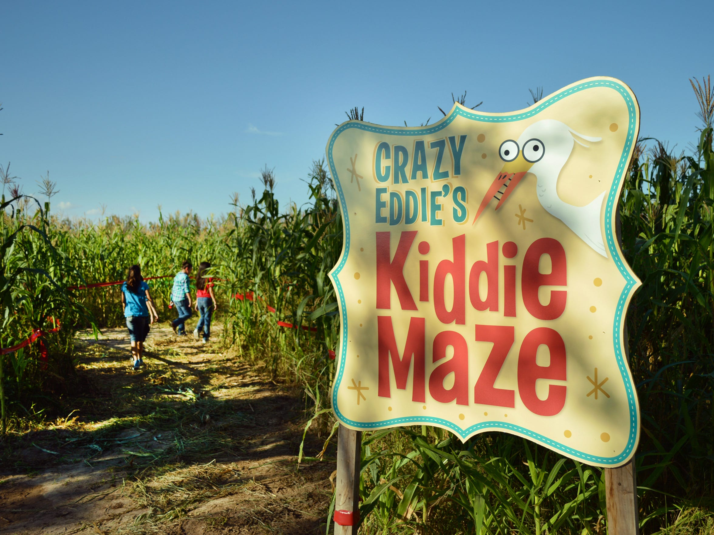 Eddie the Egret Kiddie Maze is geared towards younger guests at El Paso's Cornmaze.
