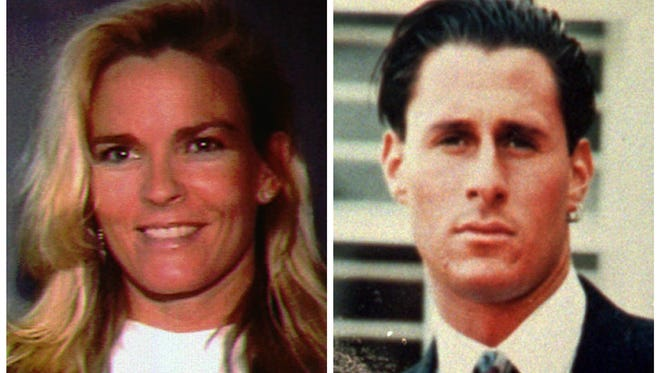 Nicole Brown Simpson and her friend Ron Goldman, both of whom were murdered in Los Angeles on June 12, 1994.