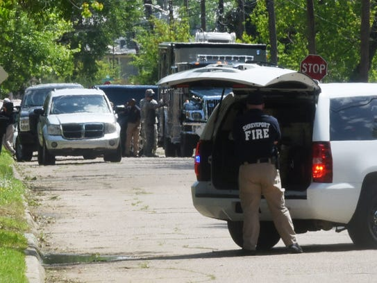 The mortar found in the 5300 block of Bienville Avenue