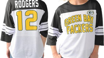 It's not quite the jersey Aaron Rodgers wears, but this shirt does make a great game day look.