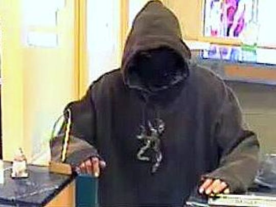 Police are looking for this suspect in connection with a bank robbery in Westfield.