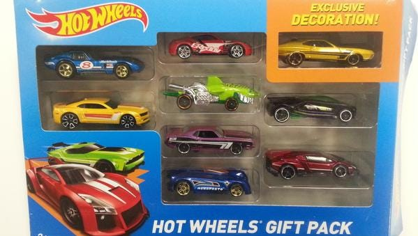 Hot Wheels Gift Pack is on the list of toxic toys.