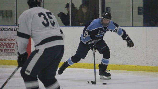 Max Halvorsen (18) set Freehold Township's program scoring record on Friday with four goals in a 10-0 win over Lacey.