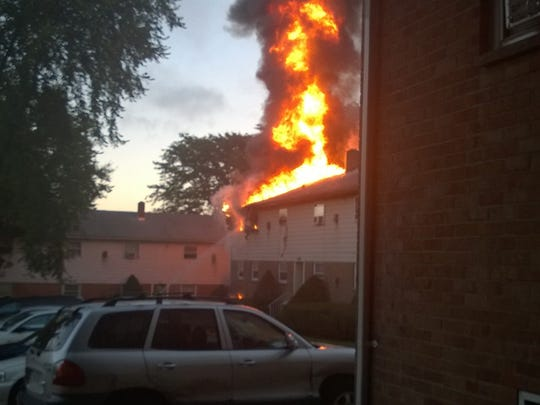 Fire crews responded to an early Sunday morning fire at Hillside Court Apartments in Endicott. No injuries were reported and crews had control of the fire with in an hour.