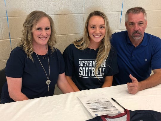 Parkway's Allie Hunt recently signed scholarship papers