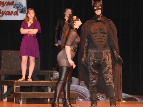 Nikolai Filipek (Batman) and Savannah Meek (Catwoman)