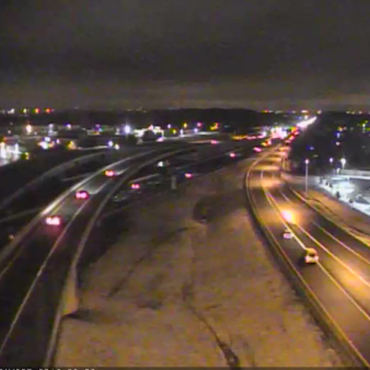 Traffic flows smoothly on I-95 Tuesday morning.