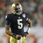 Notre Dame quarterback Everett Golson served a semester-long suspension for academic impropriety.
