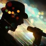 energetic singer silhouette