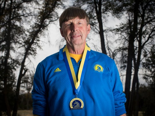 Ken Ekman, of Prescott, was nearly finished with last year's Boston Marathon when two bombs went off. He is returning this year to finish the race.