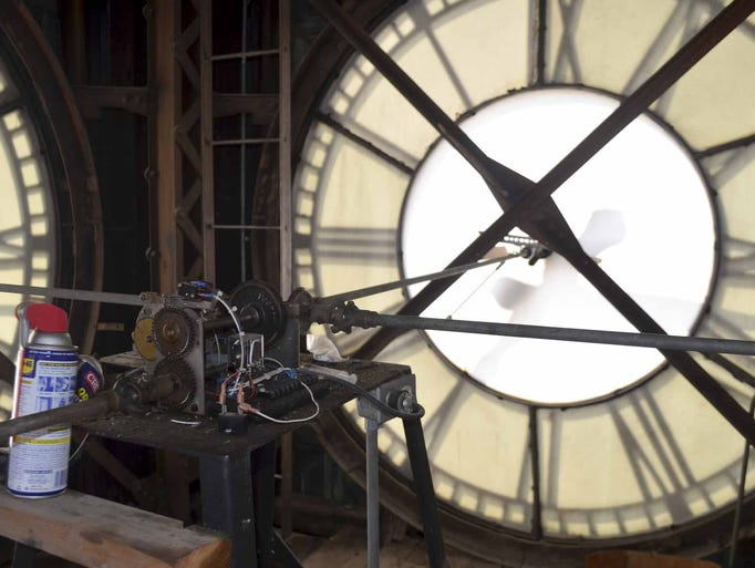 the four giant clock faces in the 114 year old webster. Cars Review. Best American Auto & Cars Review