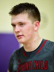 Dearborn Divine Child senior forward Quinn Blair scored 30 points in Tuesday's victory.