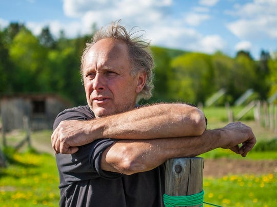George Schenk, founder of American Flatbread, is marking