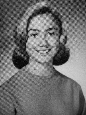 Hillary Rodham Clinton is shown in her 1965 senior class portrait from Park Ridge South High School.