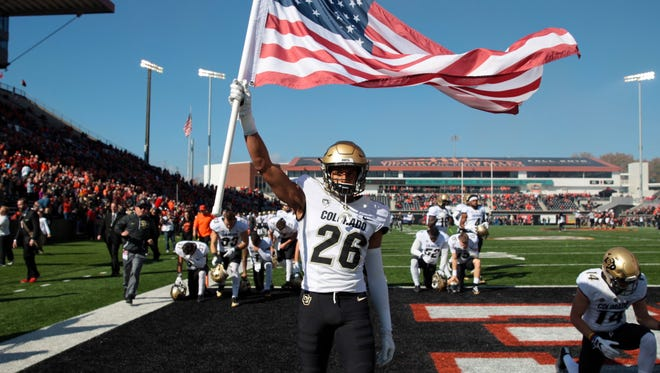 Colorado Buffaloes defensive back Isaiah Oliver (26) went to Phoenix Brophy Prep. He could be a first round NFL draft pick in 2018.