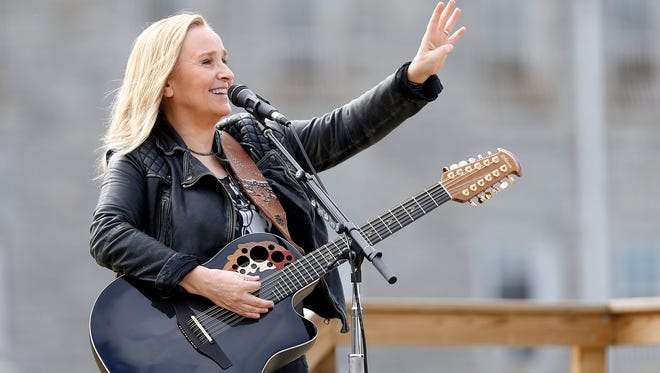 Melissa Etheridge performs for inmates at the Ohio Reformatory for Women in Marysville, Ohio, on Oct. 7, 2015.