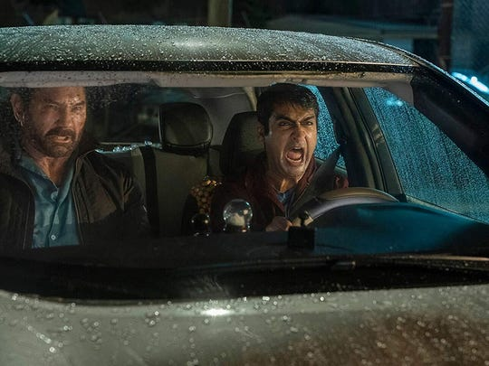 "Dave Bautista and Kumail Nanjiani star in ""Stuber."" The movie opens Thursday at Regal West Manchester, Frank Theatres Queensgate Stadium 13 and R/C Hanover Movies."
