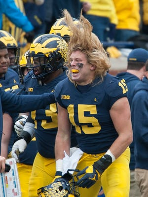 Michigan defensive lineman Chase Winovich is undecided whether he'll return for a fifth year next season.