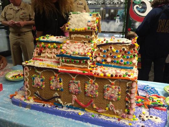 Santa's Workshop gingerbread house.