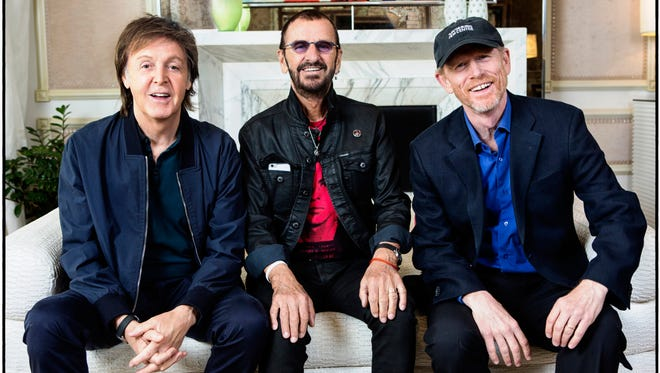 Paul McCartney, Ringo Starr and director Ron Howard, photographed July 14, 2016, at The Mirage in Las Vegas. The three have collaborated on a new Beatles documentary, 'Eight Days a Week: The Touring Years.'