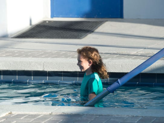 Children attended a swim class earlier this year at