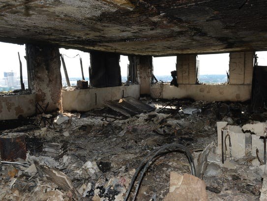 High Rise Apartment Inside london fire: shocking photos reveal devastation inside blaze-hit