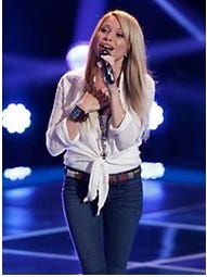 "E.G. Daily in her 2013 appearance on ""The Voice."""