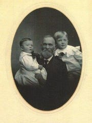 This circa 1904 photo shows William Mitchell with grandsons Howard, 4, and George, 2.