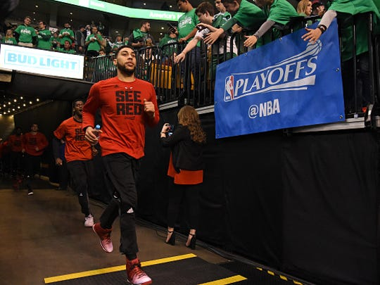 Denzel Valentine played a combined seven minutes in the first five games of the Chicago Bulls' playoff series against the Boston Celtics after taking on a larger role late in the regular season.