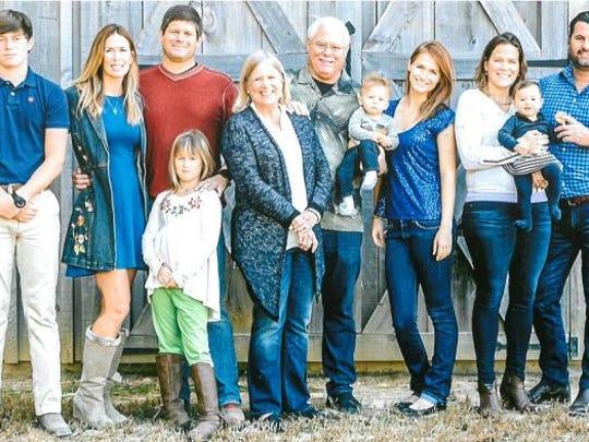 Joe Holyfield and his family