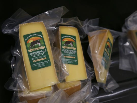 Sealed packages of Underpass Reserve cheese, ready