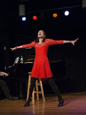 """Amy Oestreicher performs her one-woman show """"Gutless & Grateful"""" on Monday in Greene."""