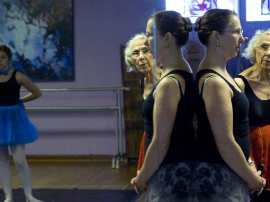 From left: Student Stevie Smith listens to ballet dance